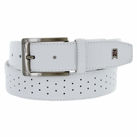 Nike Golf G-Flex Tiger Woods Men's Perforated Mesh II Golf Belt White 1207804