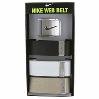 Nike Golf Sport Men's 3 in 1 Web Pack Belt Black/White/Tan 1120036