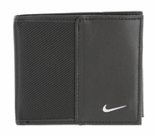 Nike Golf Sport Men's Leather Tech Twill Billfold Wallet Black 1688001