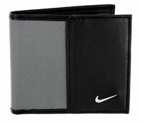 Nike Golf Sport Men's Leather Tech Twill Billfold Wallet Grey/Black 1688809