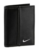Nike Golf Sport Men's Leather Tech Twill Card Case With Clip Black 1688901