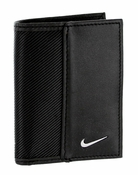 1688901 Nike Golf Sport Men's Leather Tech Twill Card Case With Clip Black