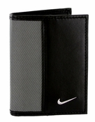 1688909 Nike Golf Sport Men's Leather Tech Twill Card Case With Clip Grey/Black 1688909