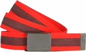 Nike Golf Sport Men's Rubber Inlay Reversible Web Belt Lt.Crimson 11198255