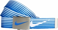 Nike Golf Sport Men's Speed Stripe Reversible Web Belt Military Blue 11197244