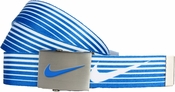 Nike Golf Sport Men's Speed Stripe Reversible Web Belt Military Blue