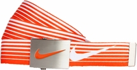 Nike Golf Sport Men's Speed Stripe Reversible Web Belt Turf Orange 11197246