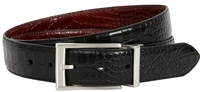 Nike Golf Tour Men's Crocodile Embossed Reversible Leather Belt Black/Brown 1112320