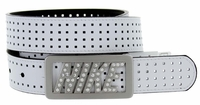 Nike Golf Women's Rhinestone Logo Reversible Golf Belts Black/White 1306625