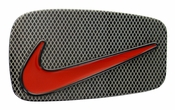 Nike Laser Etched Epoxy Enamel Signature Swoosh Buckle Orange 1700214