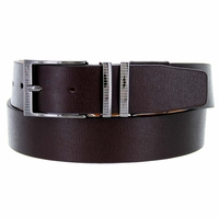Nike Men's Belt Laser Etched II Leather Golf Belt 1116302 - Brown