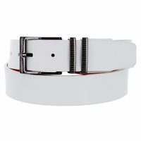 Nike Men's Belt Laser Etched II Leather Golf Belt 1116304 - White