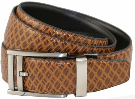Nike Reversible Basket Texture Golf Belt Tan/Black 1110420 $64.50