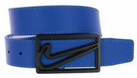 Nike Square Cutout Reversible Leather Belt Blue/White 11148191
