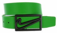 Nike Square Cutout Reversible Leather Belt Green/White 11148192