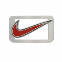 Nike Swoosh Red Enamel Belt Buckle - Red