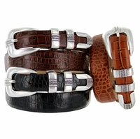 Norris Italian Leather Designer Dress Belt