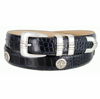 North Carolina Men's Italian Calfskin Leather Golf Concho Belts