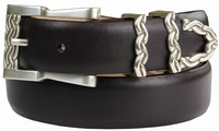 Omega Chain Italian Leather Designer Belt $32.50