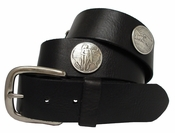 Oregon Memorial Half Dollar Coin Concho Leather Biker Belt $34.95