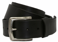 P3926 Men's Full Grain Leather Casual Jean Belt-Black