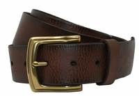 P3926 Men's Full Grain Leather Casual Jean Belt-Dark Brown