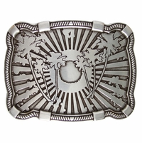 Palm Tree Sun Belt Buckle