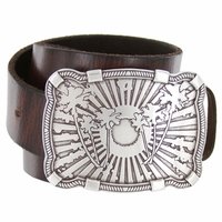 Palm Tree Sun Buckle Casual Jean Leather Belt