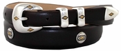 Parkhurst Italian Smooth Leather Conchos Belt $39.50