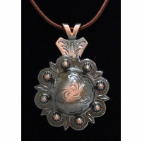 Pico Berry Concho Antique Copper Finish Necklace