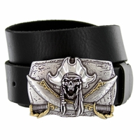 Pirate Skull Punk Casual Jean Genuine Leather Belt