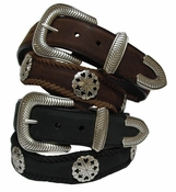 Poker Hand Western Leather Card Suit Concho Belt $49.95