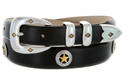 Presidential Gold Star Concho Western Leather Golf Belt $39.50