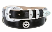 Presidential Silver Star Concho Western Leather Golf Belt