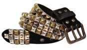 "Pyramid Cool Punk Leather Belt""Sale"""