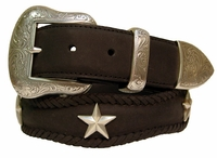 "Ranger Star Western Cowboy Genuine Leather Belt 1.5"" Wide"