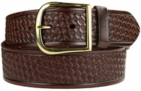 "10855 Reno Basketweave Men's Work Uniform Belt 1 3/4"" Wide-Brown $27.95"