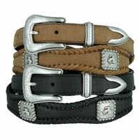 Rodeo Bronc Rider Conchos Western Leather Belt