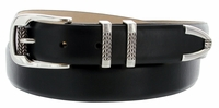 Roller Buckle Men's Designer Leather Dress Belt