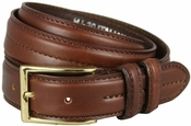 "Rome Brown Genuine Leather Dress Belt 1-1/8"" Wide $29.95"