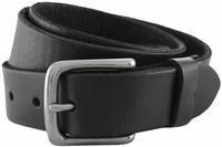 "RS100 Black Genuine Leather Casual Jean Belt (1.25"" or 32mm)"
