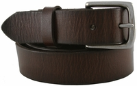 "RS100 Brown Genuine Leather Casual Belt 1-1/4"" Wide"