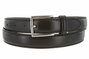 "S029/30 Men's Italian Leather Dress Casual Belt 1-1/8"" Wide Made in Italy - Nero (Black)"