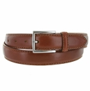 """S029/30 Men's Italian Leather Dress Casual Belt 1-1/8"""" Wide Made in Italy - Marrone (Brown)"""