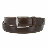 "S029/30 Men's Italian Leather Dress Casual Belt 1-1/8"" Wide Made in Italy - T. Moro (Dark Brown)"