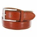 """S029/35 Men's Italian Leather Dress Casual Belt 1-3/8"""" Wide Made in Italy - Marrone (Brown)"""