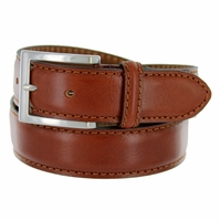 "S029/35 Men's Italian Leather Dress Casual Belt 1-3/8"" Wide Made in Italy - Marrone (Brown)"