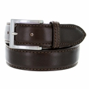 """S029/35 Men's Italian Leather Dress Casual Belt 1-3/8"""" Wide Made in Italy - T.Moro (Dark Brown)"""