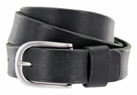E033 Men's Italian Full Leather Dress Casual Belt Made in Italy - Nero(Black)