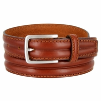 "S067/30 Men's Italian Leather Dress Casual Belt 1-1/8"" Wide Made in Italy - Marrone (Brown)"